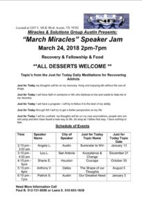 """""""March Miracles"""" Speaker Jam - Miracles & Solutions Group @ Miracles & Solutions 