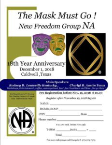 New Freedom Group NA 18th Year Anniversary