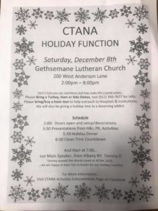 CTANA Holiday Function @ Gethsemane Lutheran Church | Austin | Texas | United States