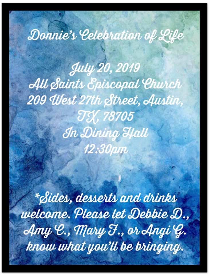 Donnie Y's Celebration of Life @ All Saints Episcopal Church | Austin | Texas | United States