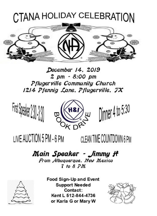 CTANA Holiday Party and Book Drive @ Pflugerville Community Church | Pflugerville | Texas | United States