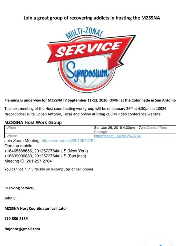 Planning Session for MZSSNA | San Antonio | Online @ San Antonio | Texas | United States
