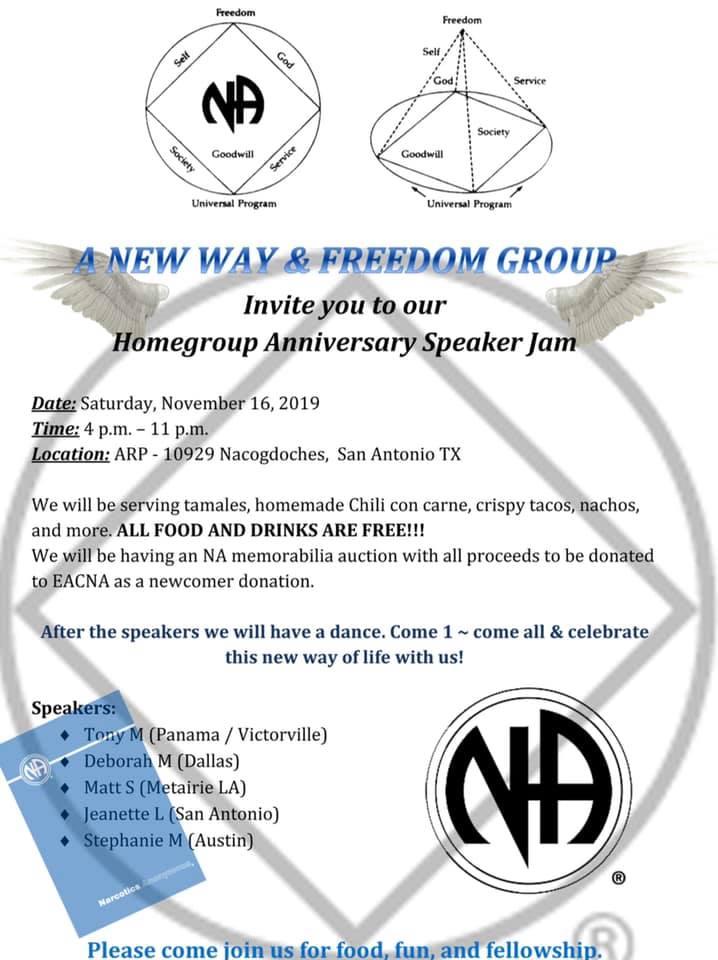 A New Way & Freedom Group - Speaker Jam | San Antonio, Texas @ San Antonio | Texas | United States