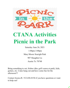 Picnic in the Park @ Mary Moore Searight Park | Austin | Texas | United States