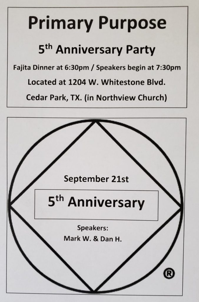 Primary Purpose | 5th Anniversary Party @ Northview Church | Cedar Park | Texas | United States