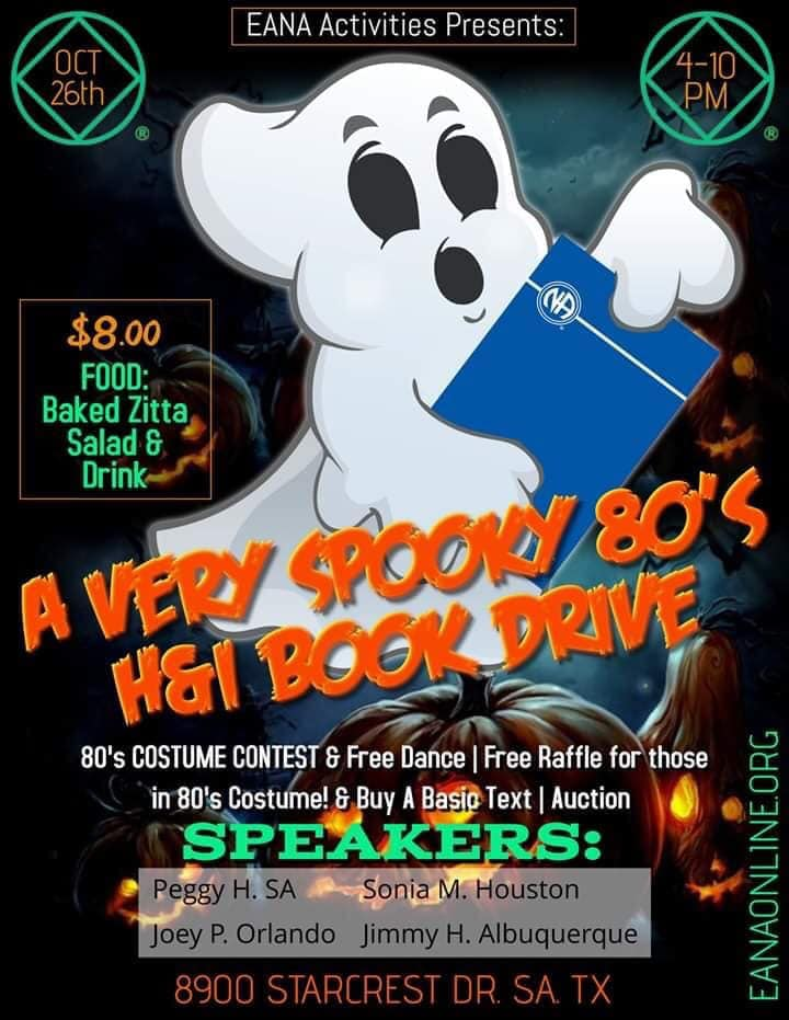 A Very Spooky 80's H&I Book Drive @ San Antonio | Texas | United States